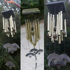 Bronze 12 Tubes Metal Bells Wind Chime Outdoor Garden Hanging Decor 62cm
