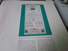 Wien Archiv 9 Wirtschaft 5016 Stadt Banco Zettel 1800 Papiergeld