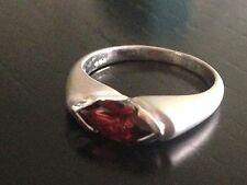 925 STERLING SILVER Garnet RING SIZE 7/3.5g STAMPED Great