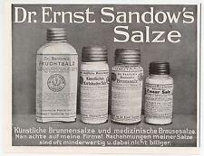 Werbung: HAMBURG, 1911, Chemische Fabrik Dr. Ernst Sandow Salze Emser Salz