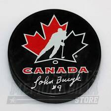 John Bucyk Boston Bruins Signed Autographed Team Canada Hockey Puck