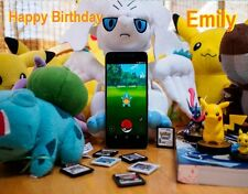 Pokemon GO Edible Cake Image Topper Your Personal Message Birthday Party Favor