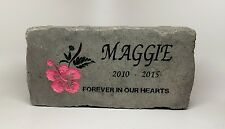 Personalized Pet Grave Marker Made From DOT Approved Concrete Not Plastic Resin