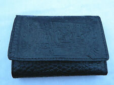 Egyptian Leather Women Lady Black Clutch Wallet Purse Card Holder Judgement #261