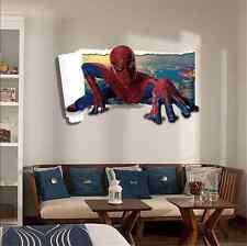 Spider Man Children/Baby Boy Playroom Bedroom Wall Sticker Decals Decor UK