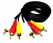 From OZ Quality 1PC 1.5M AV Audio Video Lead Cable 3 RCA Male Plug TV +FREE POST