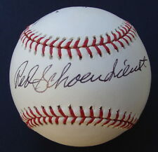 1957 BRAVES RED SCHOENDIENST HAWK TAYLOR Dual  Autographed  Signed  Baseball COA