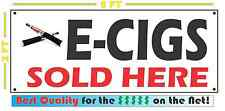 Lot of 2 E-CIGS SOLD HERE Full Color Banner for Smoke Shop Electronic Cigarettes