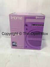 iHome iBT4UC Bluetooth Rechargeable Boombox with FM Radio (Purple)