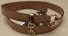 GUCCI SKINNY NUDE PATENT BELT WITH PENDANT BRAND NEW £225 GENUINE CHARM SIZE 75