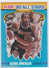1990-91 FLEER BASKETBALL INSERT CLYDE DREXLER #11 OF 12 ALL-STARS ALL STARS