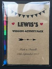 Personalised Vintage Childrens Kids Wedding Favour Activity Pack Book Gift