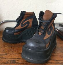Sonax Platform Boots 90s Cyber Goth Wedge RARE! Buffalo style. UK 7 EU 41