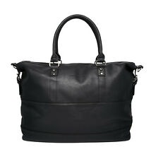 French Connection Men's Holdall Twin Handle Large Travel Bag Tote Black