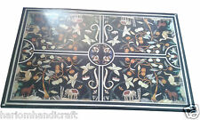 Size 3'x3' Marble Dining Table Top Inlaid Jungle Animal Replica Home Decor H946A