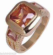 Ring Gr 62 66  Fingerring Gold gefüllt Herrenring Goldring Stein Siegelring