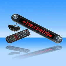 Car 12V RED LED Message Sign Programmable Moving Scrolling Board LIGHT W/ remote