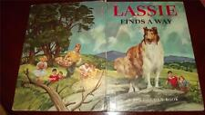 LASSIE FINDS THE WAY collie dog BIG GOLDEN BOOK Snapping Turtle 1969 ~H GREENE~
