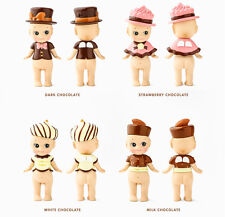 Set of 4 DREAMS TOYS Sonny Angel Milk White Strawberry Dark Chocolate Mini Dolls