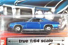 PONTIAC FIREBIRD 1969 METALLIC BLUE AUTOWORLD AW64012 1:64 NEW DIECAST MODEL