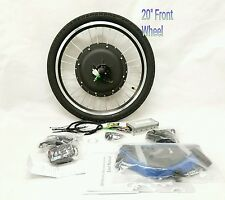 "48V 1000W ELECTRIC BIKE FRONT 20"" WHEEL CONVERSION KIT  880 LED no battery"