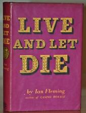 LIVE AND LET DIE~1ST/1ST ED W. NR FINE 2ND STATE UNCLIPPED JACKET~IAN FLEMING