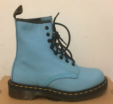 DR. MARTENS 1460 WILD AQUA VIRGINIA  LEATHER  BOOTS SIZE UK 5
