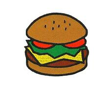 Patch toppe toppa ricamate termoadesiva sandwich hamburger panini kawaii hot dog