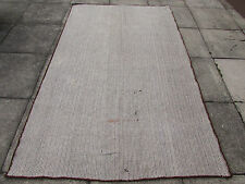 Old Hand Made Oriental Afghan Tribal Nomadic Wool Black & White  Kilim 240x146cm
