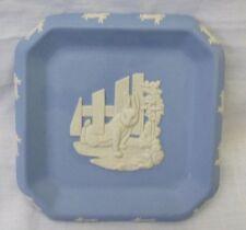 Vintage Wedgwood Blue Jasperware Peter Rabbit Dish Impressed Mark Rare EUC