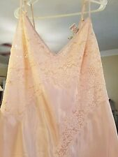 VTG Claire's Rose 100% Silk Night gown Blush Lace Size Large Gorgeous!!! MINT