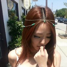 Boho Women Ladies Gypsy Hippie Turquoise Headpiece Classical Head Chain Headband