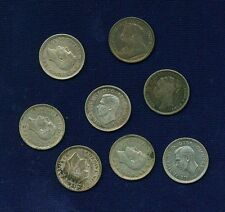"England ""Threepence"" Coins: 1883, 1897, 1938, 1940, & 1943, Group Lo