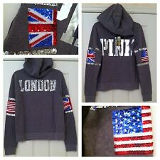 Victoria's Secret Pink Limited Edition 2014 London Bling Fashion Show Hoodie -XS