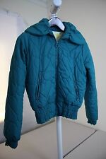 Wet Seal 100% Polyester Green Lined and Filled Fully Zippered Jacket Size - S