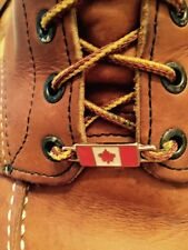 2 New Pairs Red Wing Canadian Flag boot lace keepers