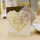 10 x ivory shabby chic lottery ticket or scratch card holders, wedding favours