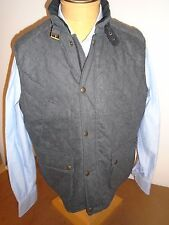 Polo Ralph Lauren Wool Blend with Leather Trim Holmes Gray Vest  NWT XL $395