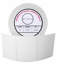 "2x1.5 (2"" x 1-1/2"") Direct Thermal Zebra Eltron Labels (16 Rolls/1000 Labels)"