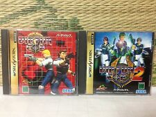 Virtua Cop 1 2 2set Sega Saturn SS Japan Game Very Good condition!!