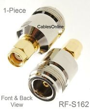 N-Type Female to RP-SMA Reverse Polarity Male RF Adapters, CablesOnline RF-S162
