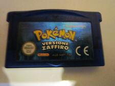 POKEMON VERSIONE ZAFFIRO per Nintendo Game Boy Advance ITALIANO BATTERIA NUOVA