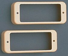 NEW - Set Of 2 Mini Humbucking Pickup Rings - CREAM