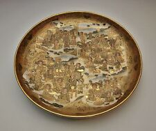 MUSEUM QUALITY ANTIQUE JAPANESE SATSUMA DISH MAGNIFICENT MEIJI CHARGER / BOWL