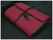 """7""""x5"""" Journals Book Handmade Vintage Diary Leather Notebook Travel Journal Pink"""