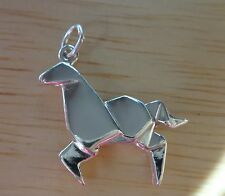 Sterling Silver 3D 20x22mm Modern Japanese Origami Horse Charm!