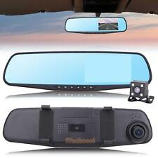 "4.3"" Car Dash Camera Rearview Dual Lens Mirror Auto Vehicle Parking DVR Recorder"