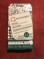 Zentangle 12pc. Tool Set With White Tiles ~ NEW