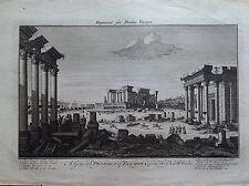 SIRIA VEDUTA GENERALE DI PALMIRA DA NORD OVEST acquaforte 1768 DRAKES VOYAGES
