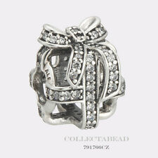 Authentic Pandora Sterling Silver All Wrapped Up Clear CZ Bead 791766CZ